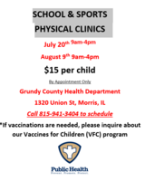 SCHOOL & SPORTS PHYSICAL CLINICS