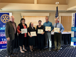 Mrs. DesLauriers Awarded With the 2018 Morris Rotary Teacher of the Year Award