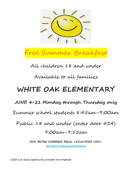 Free Summer Breakfast