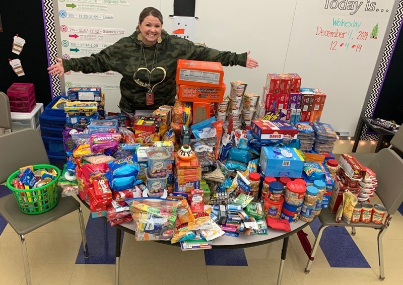 Students and Staff  Donate Care Packages to Our Brave Servicemen