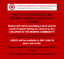 FREE SCHOOL MEALS DURING SCHOOL CLOSURE!