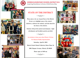 Annual State of the District Event Saturday, April 6, 2019 at 9:00 a.m.