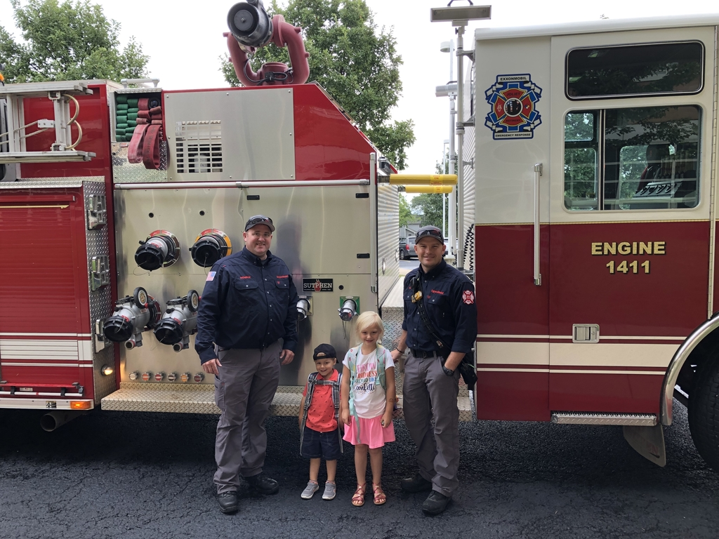 Special ride to school! #Thankafirefighter